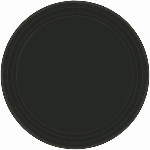 Black 7in Paper Plates 20ct