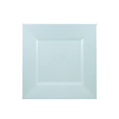 Simply Squared White 10.75in Plastic Plates 10ct