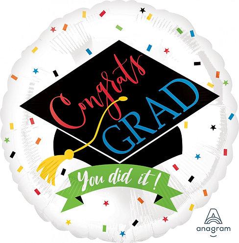 #G32 100 Percent Done 18in Mylar Balloon