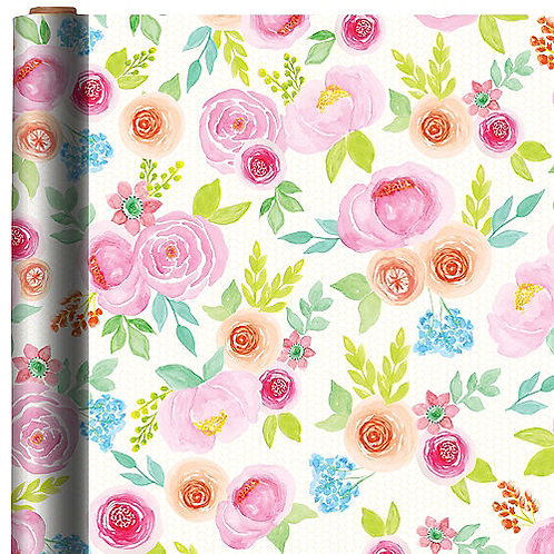 Floral Gift Wrap 16ft x 30in
