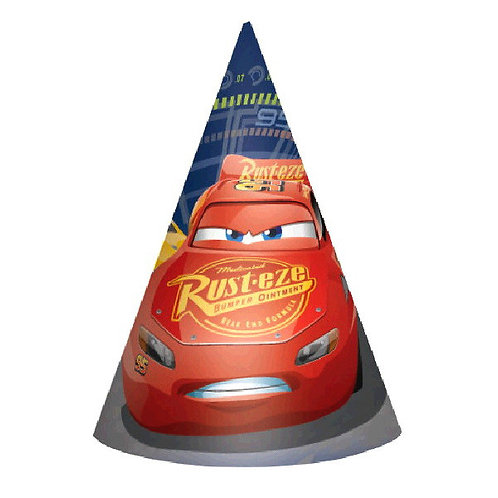 CARS 3 Paper Cone Hats 8ct