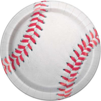"Baseball Round 9"" Dinner Plates 8ct"