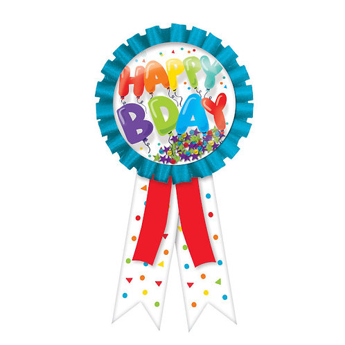 Birthday Celebration Confetti Pouch Award Ribbon