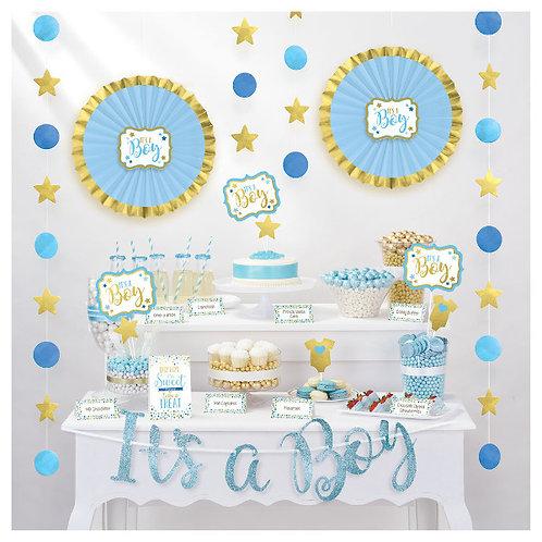 Baby Shower Buffet Decorating Kit - Boy