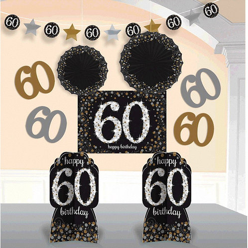 Sparkling Celebration 60 Room Decorating Kit