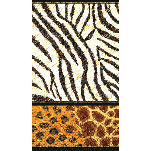 Animal Prints Guest Towels 16ct