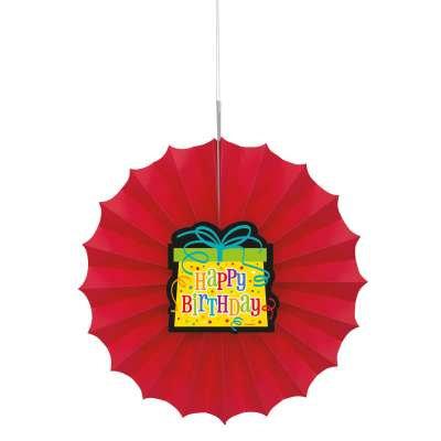 "Birthday Gift 12"" Paper Fan"