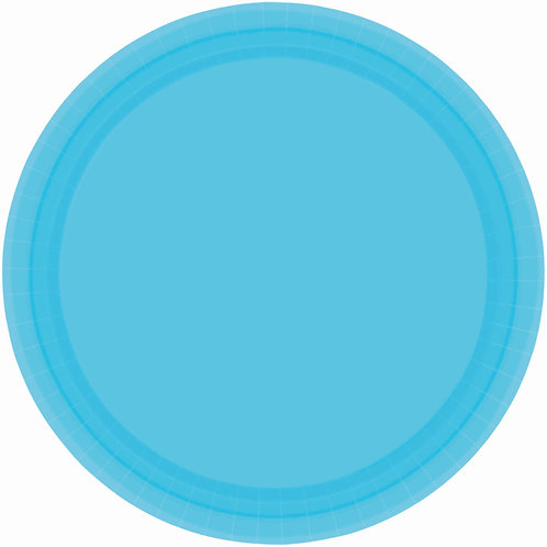 Caribbean Blue 9in Paper Plates 20ct