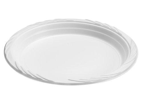 White 9in Plastic Plates 100ct