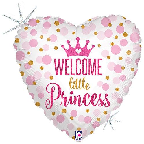 #590 Glitter Baby Princess 18in Mylar Balloon