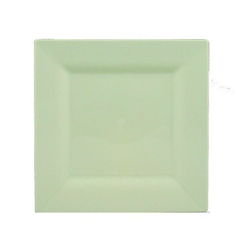 Simply Squared Ivory 4.75in Plastic Plates 10ct
