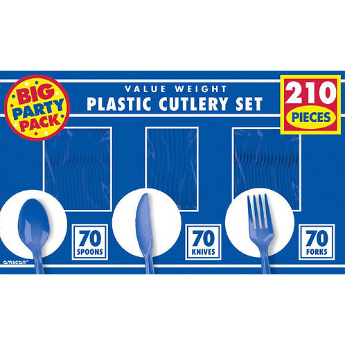 Royal Blue Value Cutlery Set 210ct