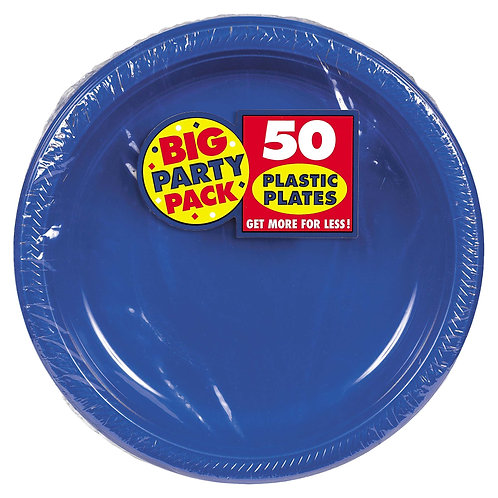 Royal Blue 10in Plastic Plates 50ct