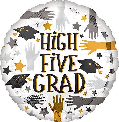 #G10 High Five Grad 17in Mylar Balloon