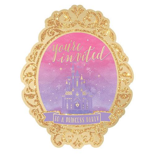 Disney Princess Deluxe Invitations 8ct