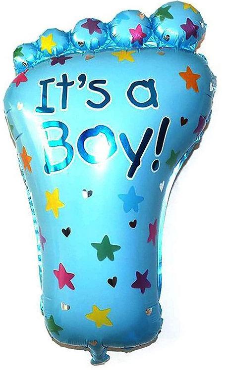 #180 It's a Boy Foot 32in Mylar Balloon