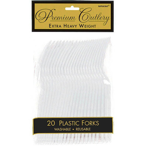 Clear Plastic Forks 20ct