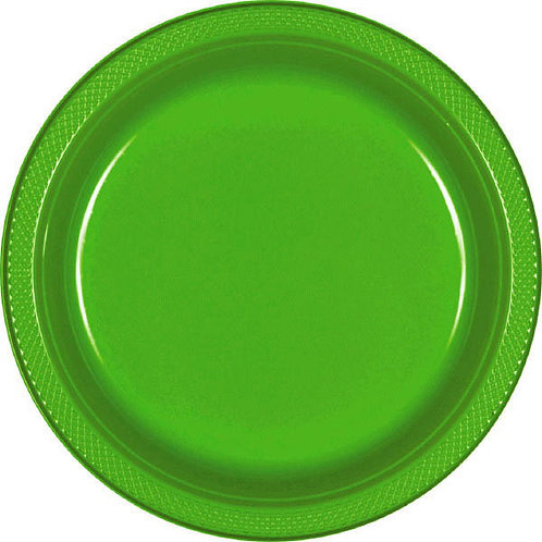 Kiwi Green 7in Plastic Plates 20ct