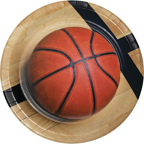 Basketball Lunch Plates 8ct