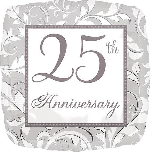 #533 25th Anniversary 18in Mylar Balloon