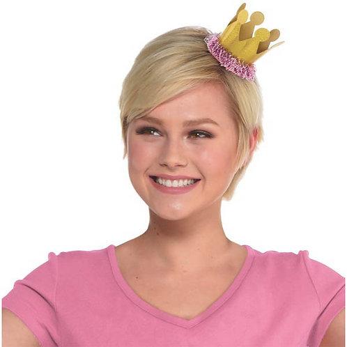 Confetti Fun Mini Crown Hair Clip