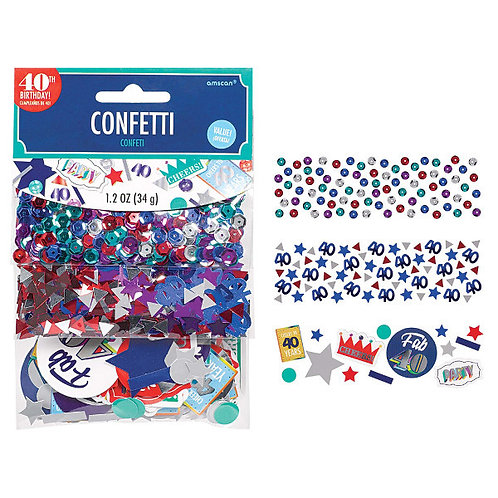 Value Pack Confetti - Here's To 40
