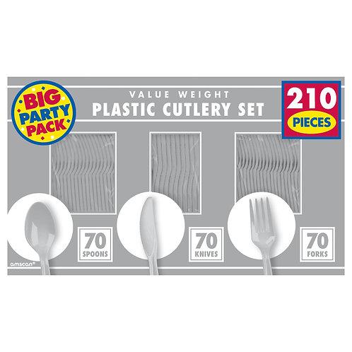 Silver Value Cutlery Set 210ct