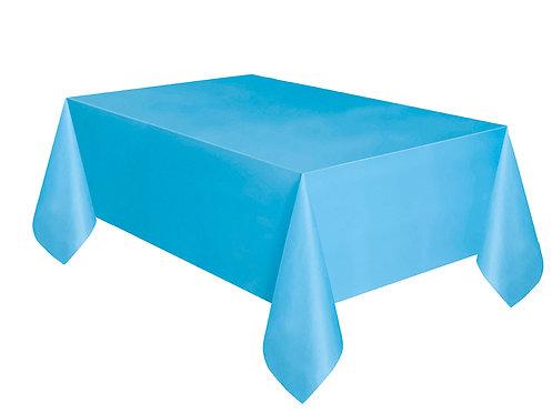 "Powder Blue Rectangular Plastic Table Cover 54""x108"""