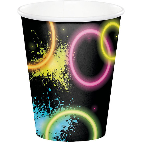 Glow Party Paper Cups 8ct