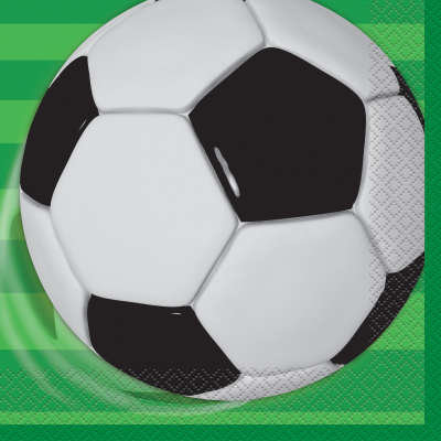 Soccer Lunch Napkins 16ct