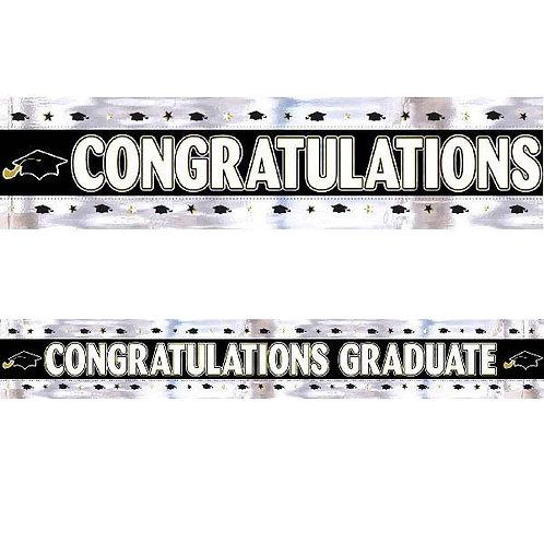 Graduation 9' Foil Banner