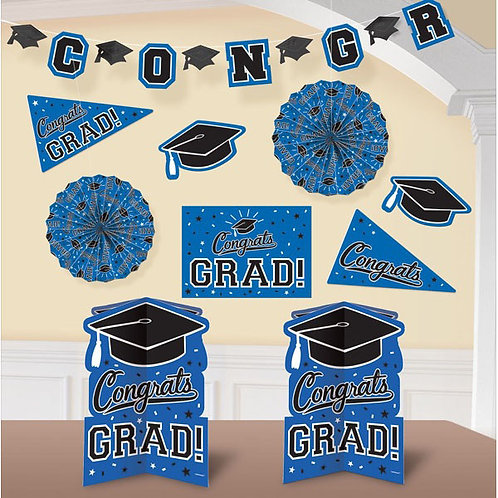 Grad Room Decorating Kit - Blue