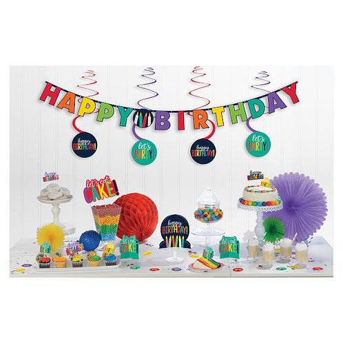 Birthday Accessories Rainbow Mini Decorating Kit