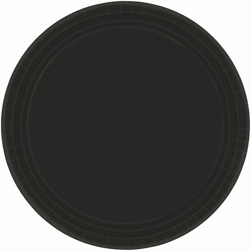 Black 9in Paper Plates 20ct