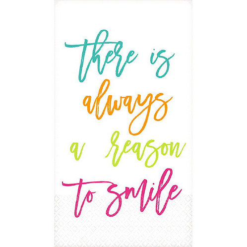 Guest Towel - A Reason To Smile 16ct