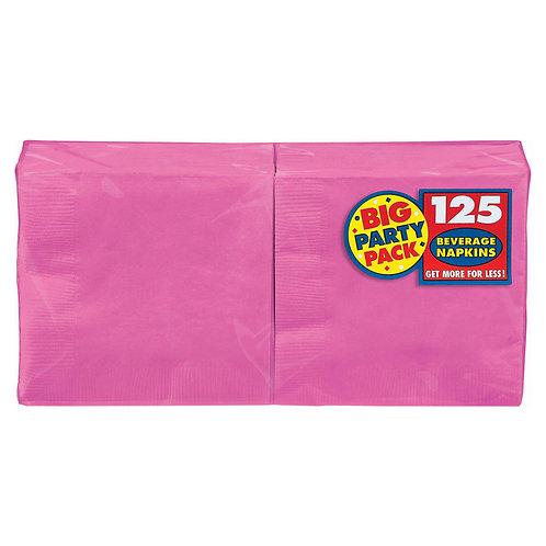 Bright Pink Beverage Napkins 125ct