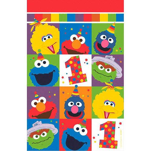 Sesame Street Elmo Turns One Plastic Table Cover