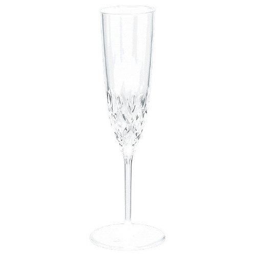 Crystal Premium Plastic Champagne Flutes 8ct
