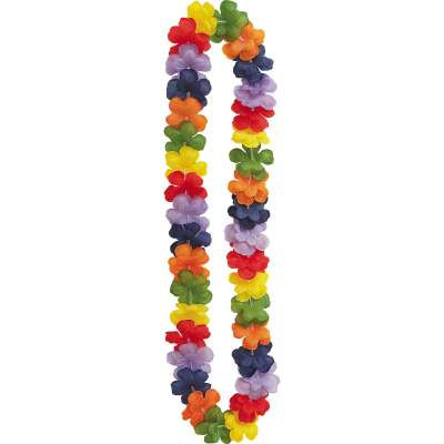 Rainbow Flower Lei 40in