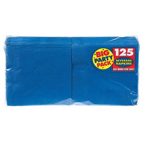 Royal Blue Beverage Napkins 125ct