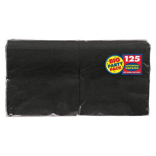 Black Lunch Napkins 125ct
