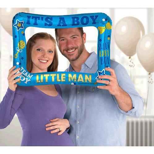 Gender Reveal Inflatable Frame - Boy