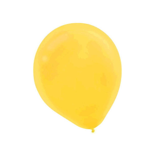 Yellow 9in Latex Balloons - Packaged, 20ct