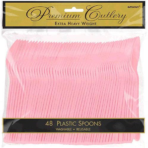 Pink Plastic Spoons 48ct