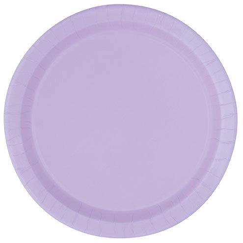 """Lavender Round 7"""" Dessert Plates 20ct"""