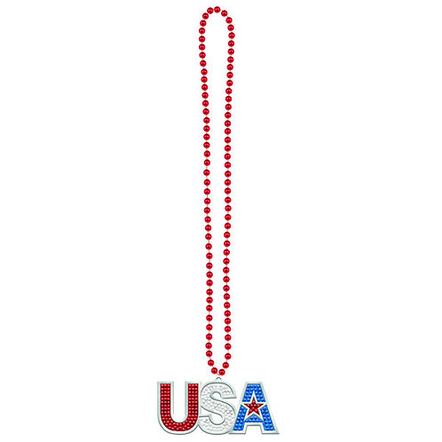 USA Beaded Bling Necklace