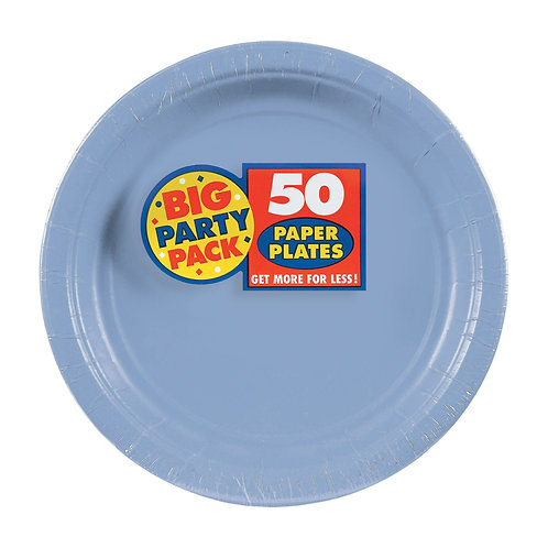 Light Blue 7in Paper Plates 50ct