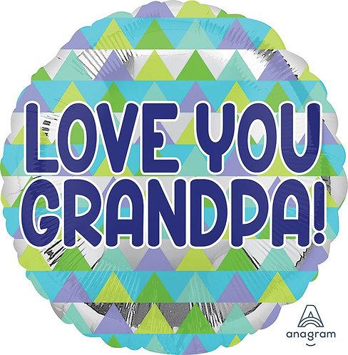 #514 Love You Grandpa 18in Mylar Balloon