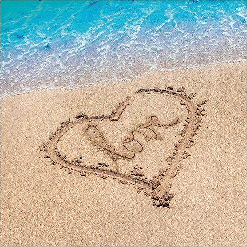 Beach Love Lunch Napkins 16ct
