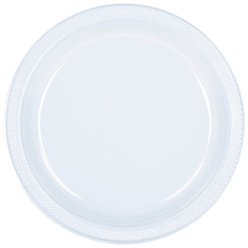 Clear 9in Plastic Plates 20ct